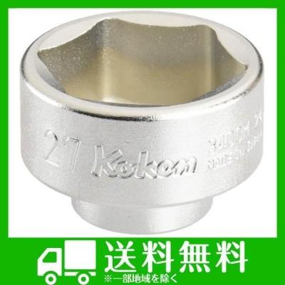 コーケン 3/8(9.5mm)SQ. 欧州車用 オイルフィルター用ソケット 27mm 3400M.24-27