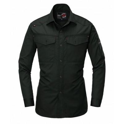 BURTLE バートル 1103 長袖シャツ ブラック Sサイズ 春夏用 メンズ 制電ケア 作業服 作業着 1101シリーズ