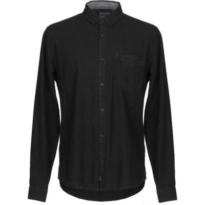カルバンクライン CALVIN KLEIN JEANS メンズ シャツ トップス solid color shirt Black
