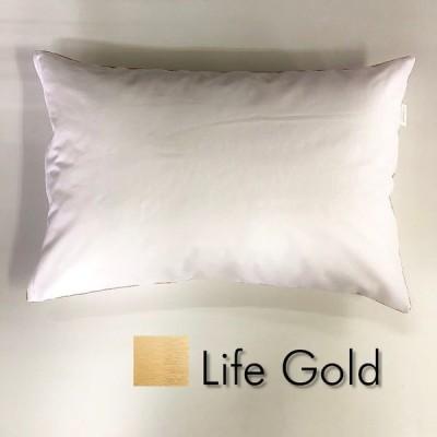Sサイズ枕カバー【ライフ ゴールド】金パイピング/ピロケース/35cm×50cm/ポイント消化♪