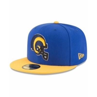 ニューエラ メンズ 帽子 アクセサリー Los Angeles Rams Team Basic 59FIFTY Fitted Cap RoyalBlue/Yellow
