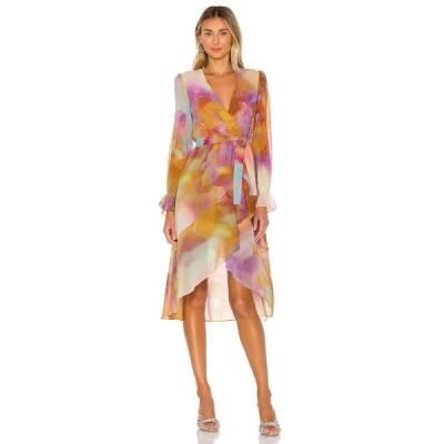 ケンダル&カイリー KENDALL + KYLIE レディース ワンピース ワンピース・ドレス Front Wrap Duster Tie Dye
