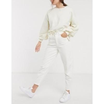 エイソス レディース デニムパンツ ボトムス ASOS DESIGN balloon leg boyfriend jeans in cream jumbo cord Cream