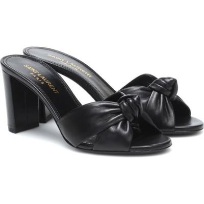 イヴ サンローラン Saint Laurent レディース サンダル・ミュール シューズ・靴 Bianca leather sandals Black