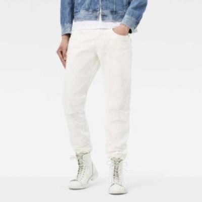 gstar ジースター ファッション 男性用ウェア ズボン gstar 3301-mr-tapered-inza-white-denim-l34
