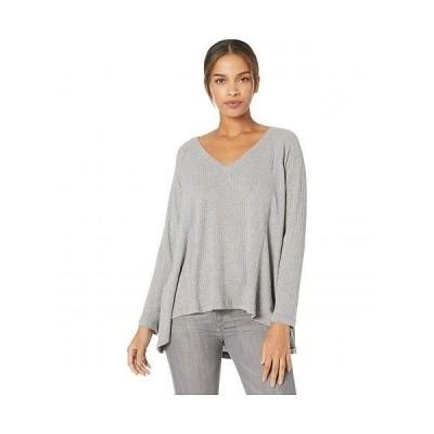 Jack by BB Dakota レディース 女性用 ファッション Tシャツ Warm Welcome Activewear Shirt - Light Heather Grey