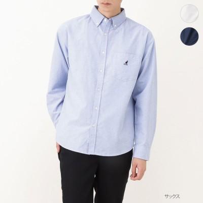 KANGOL カンゴール ボタンダウンシャツ 長袖シャツ 長袖 シャツ メンズ ブランドロゴ ポケット