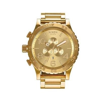 NIXON (ニクソン) メンズ クロノグラフ ステンレススチール腕時計 One Size ゴールドトーン [並行輸入品]