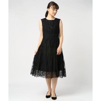 ドレス はしごレース切替スカラカットワンピースドレス