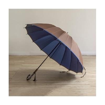 <小宮商店/コミヤショウテン> 甲州織 雨晴兼用長傘 かさね 16本骨 ブラウンブルー【三越伊勢丹/公式】