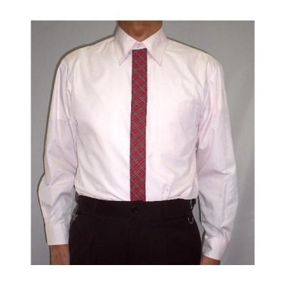 メンズシャツ ピンク男女兼用 おしゃれユニフォーム 長袖 半袖 赤チェック  2S S M L 2L 3L 4L