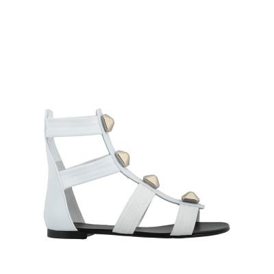 ジュゼッペ・ザノッティ・デザイン GIUSEPPE ZANOTTI サンダル ホワイト 36.5 革 / 紡績繊維 サンダル
