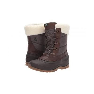 Kamik カミック レディース 女性用 シューズ 靴 ブーツ スノーブーツ SnowPearl - Dark Brown