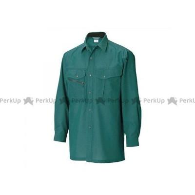 TSデザイン 7105 長袖シャツ(グリーン) サイズ:6L TS DESIGN
