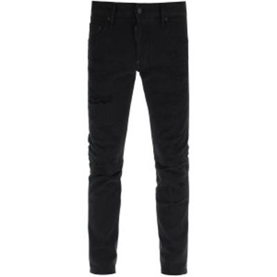 DSQUARED2/ディースクエアード Black Dsquared2 white bull skater jeans メンズ 春夏2021 S74LB0861 STN833 ik