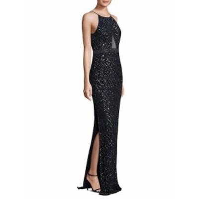 エイダンマトックス レディース ワンピース Embellished Floor-Length Gown