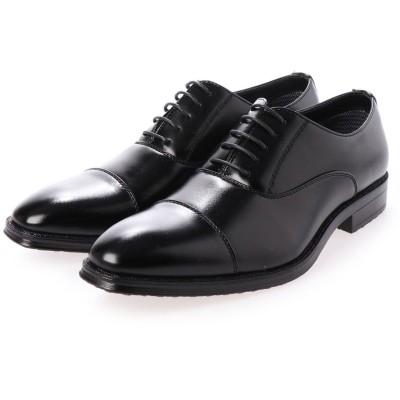 トウキョウブラザー TOKYO BROTHER メンズ ビジネスシューズ 紳士靴 ドレスシューズ 防滑 ストレートチップ 撥水加工  履き心地 (ブラック)