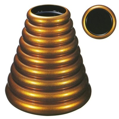 SDX梨地内黒寿司桶 7寸桶 (24.5xH6.1cm) 1人用  名入れサービス有り  (寿し桶・ちらし桶)