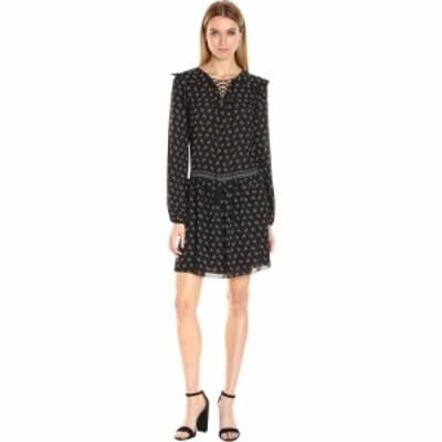 マックススタジオ MAXSTUDIO レディース ワンピース ワンピース・ドレス Lace Detail Dress Black/Ivory Ditsy Spray