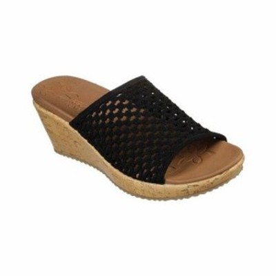 SKECHERS スケッチャーズ ファッション サンダル Skechers Womens  Beverlee Golden Sky Slide Wedge Sandal
