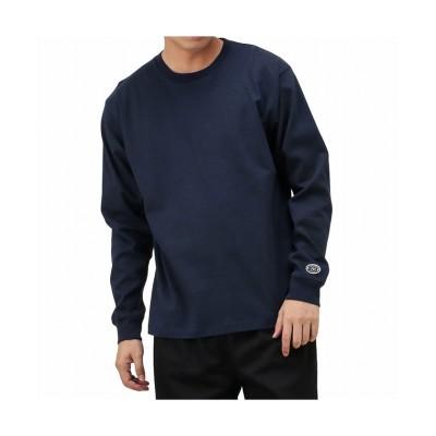 【マックハウス】 DISCUS ディスカス USAコットン 天竺無地長袖Tシャツ R0095-521 メンズ ネイビー M MAC HOUSE