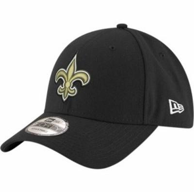 ニューエラ メンズ 帽子 アクセサリー New Era Men's New Orleans Saints 9Forty Black Adjustable Hat