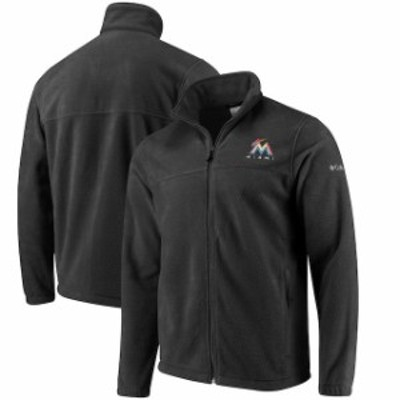Columbia コロンビア スポーツ用品  Columbia Miami Marlins Charcoal Flanker Full-Zip Jacket