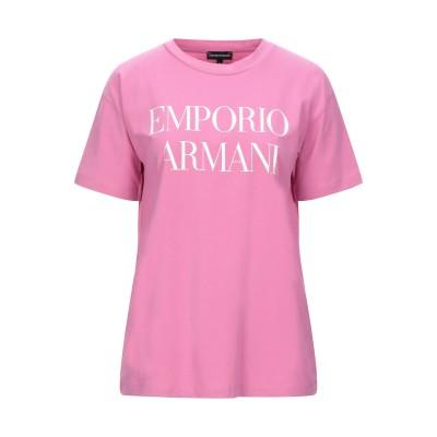 エンポリオ アルマーニ EMPORIO ARMANI T シャツ ピンク 44 コットン 95% / ポリウレタン 5% T シャツ
