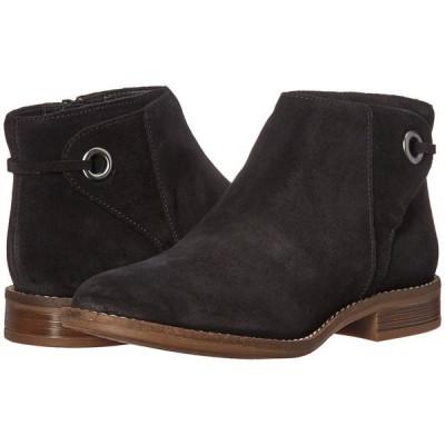 クラークス Clarks レディース ブーツ シューズ・靴 Camzin Bow Black Suede