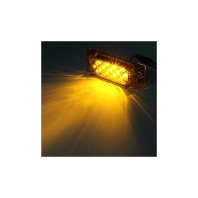 """Partsam 6"""" アンバー13 LEDサイドマーカークリアランスライト長方形12Vトラックトレーラーキャンピングカー Partsam 6"""" Amb"""