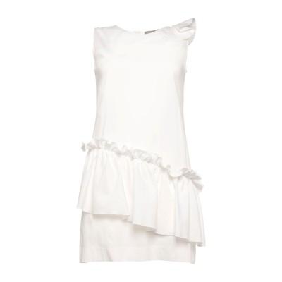 D.EXTERIOR ミニワンピース&ドレス ホワイト 40 コットン 79% / ナイロン 18% / ポリウレタン 3% ミニワンピース&ドレス