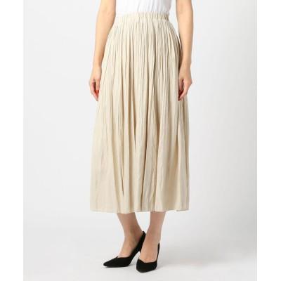 【ミューズ リファインド クローズ】 シャイニープリーツスカート レディース シロ M MEW'S REFINED CLOTHES