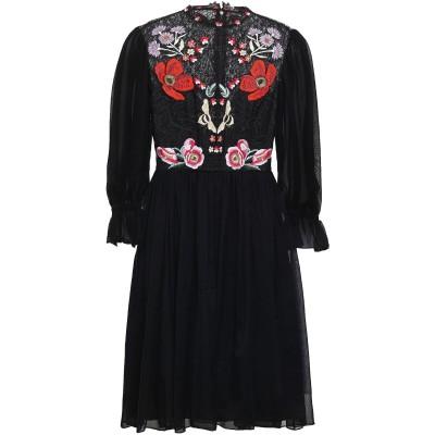 テンパリー・ロンドン TEMPERLEY LONDON ミニワンピース&ドレス ブラック 6 シルク 70% / ナイロン 30% ミニワンピース&