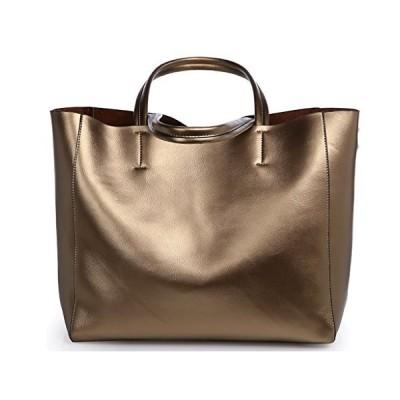 QZUnique Women's Soft Pearl Cowhide Genuine Leather Fashion Elegant Style Shoulder Bag Bronze【並行輸入品】