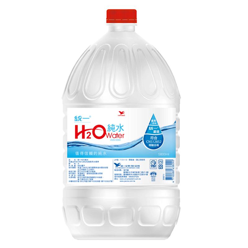 統一H2O純水5800ml