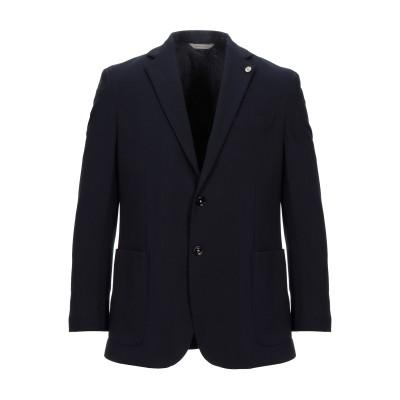 ALESSANDRO GILLES テーラードジャケット ダークブルー 50 レーヨン 68% / ナイロン 27% / ポリウレタン 5% テーラ