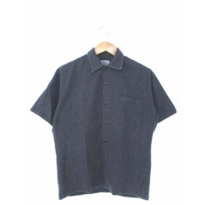 【中古】Hawaiian STANDARD 聖林公司 シャツ 半袖 トップス USA製 グレー S メンズ