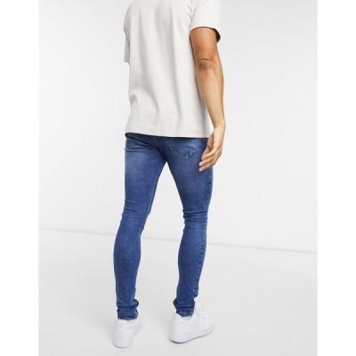 クリミナルダメージ メンズ デニムパンツ ボトムス Criminal Damage Core Skinny jeans in midstone wash Mid stone