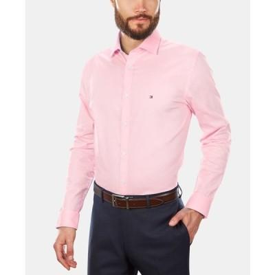 トミー ヒルフィガー シャツ トップス メンズ Men's Slim-Fit Stretch Solid Dress Shirt, Online Exclusive Created for Macy's Classic Pink