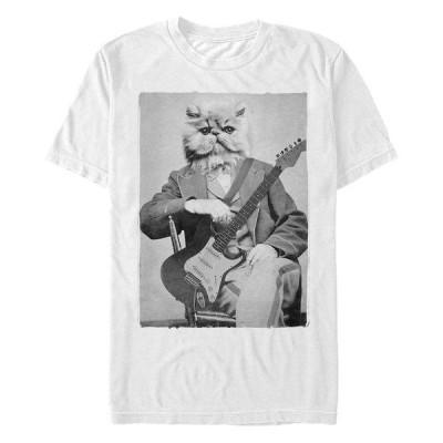 フィフスサン Tシャツ トップス メンズ Men's Cat Levine Short Sleeve Crew T-shirt White