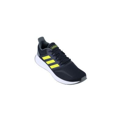 adidas/アディダス  FALCONRUN M 31.0cm レジェンドインク×ショックイエロー×フットウェアホワイト EG8611