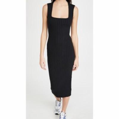 サイモンミラー Simon Miller レディース ワンピース ノースリーブ ワンピース・ドレス Amos Square Neck Sleeveless Dress Black