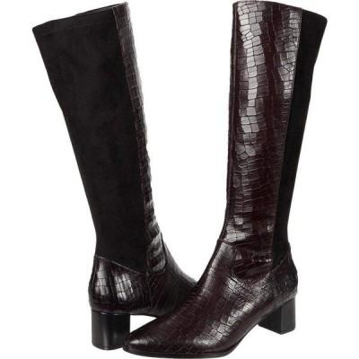 トロッターズ Trotters レディース ブーツ シューズ・靴 Kirby Wine Croco Leather