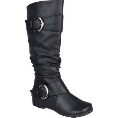 ジュルネ コレクション Journee Collection レディース ブーツ シューズ・靴 Paris Extra Wide Calf Slouch Boot Black Faux Leather