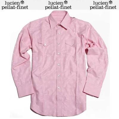 【送料無料】 ルシアン ペラフィネ(lucien pellat-finet) メンズ コットンシャツ KO 20H L.PINK  DB61A