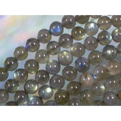 天然石ビーズ ラブラドライト丸玉 6mm (No.2)・ 10個