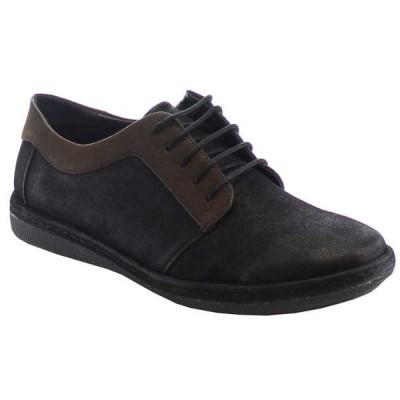 ドレス/フォーマル シューズ 靴  ALESSIO M137L-SY メンズ One And A ハーフ サイズ Bigger クラシック Desert Lace Up オックスフォードs BLACK/DK.BROWN