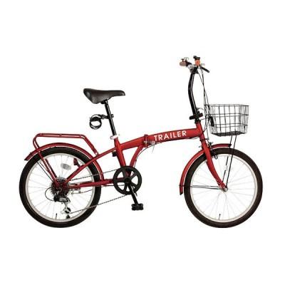 【粗品 記念品】 20インチ折りたたみ自転車 レッド  ノベルティ用オリジナル対応/まとめ買いに!