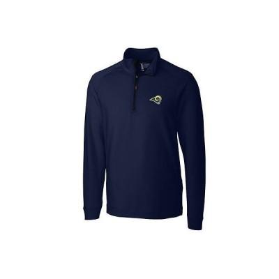 レプリカ ユニフォーム 応援 フットボール NFL カッター&バック CBUK by Cutter Buck Los Angeles Rams Navy Jackson Half Zip Overknit Jacket