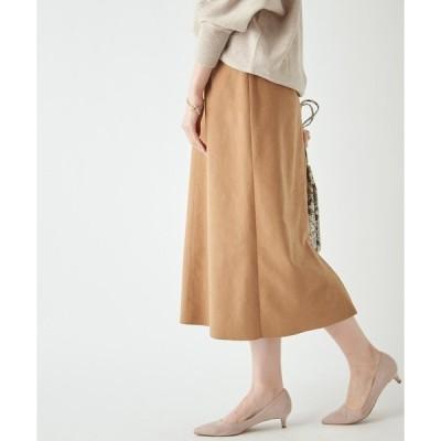 スカート 定番人気エコスエード エコスウェードセミストレートスカート(無地)